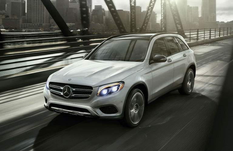 GLC SUV in silver