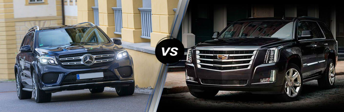 How does the Mercedes-Benz GLS compare to the Cadillac Escalade?