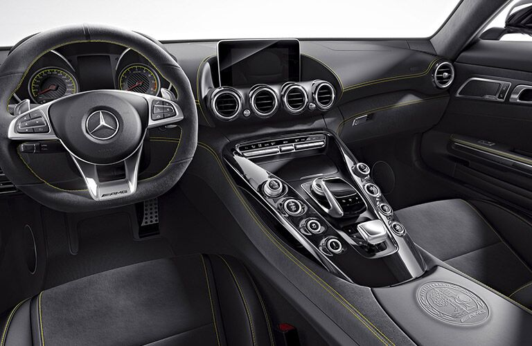 2017 Mercedes-AMG GT Interior With Yellow Trim