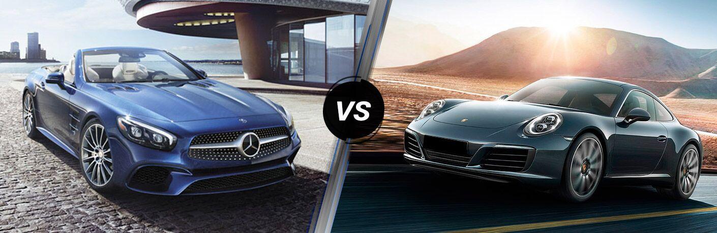 2017 Mercedes-Benz SL-Class vs 2017 Porsche 911