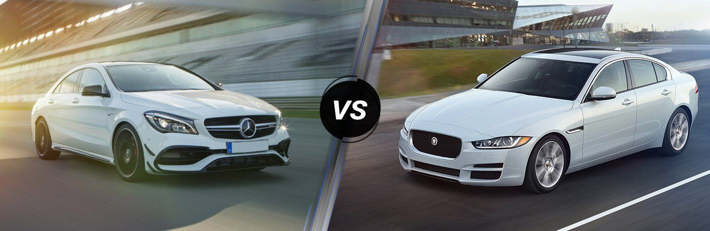 How does the Mercedes-Benz CLA compare to the Jaguar XE?