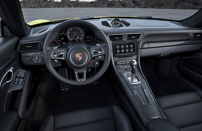 2017 Porsche 911 Turbo Black Leather Interior