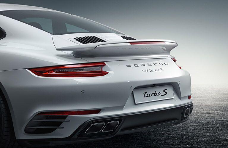 2017 Porsche 911 Turbo S White Rear Bumper