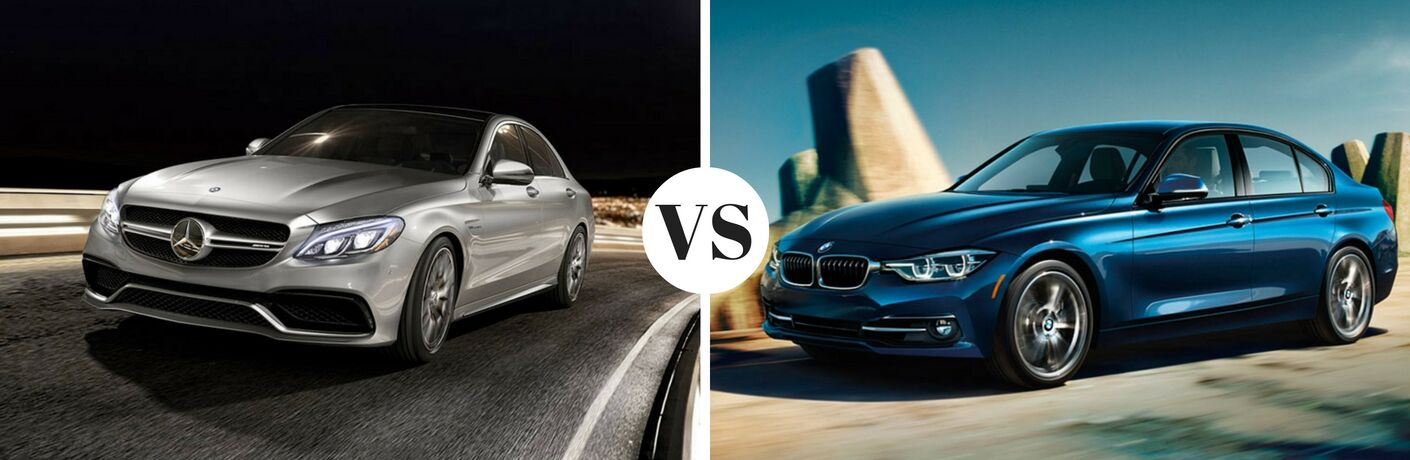 How does the Mercedes-Benz C-Class compare to the 2017 BMW 3 Series?