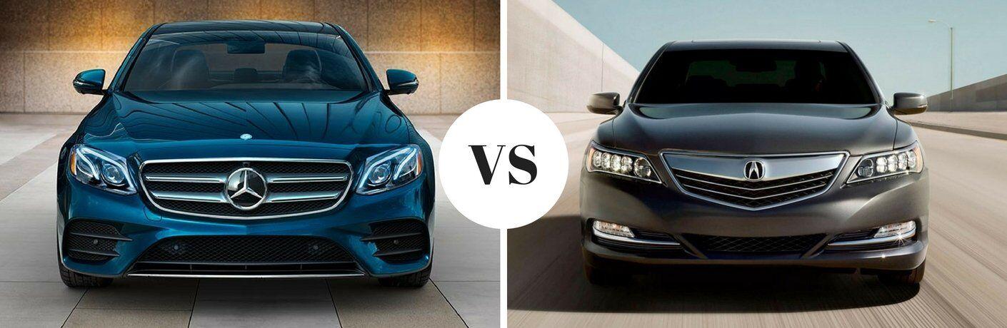 2017 Mercedes-Benz E-Class vs 2017 Acura RLX