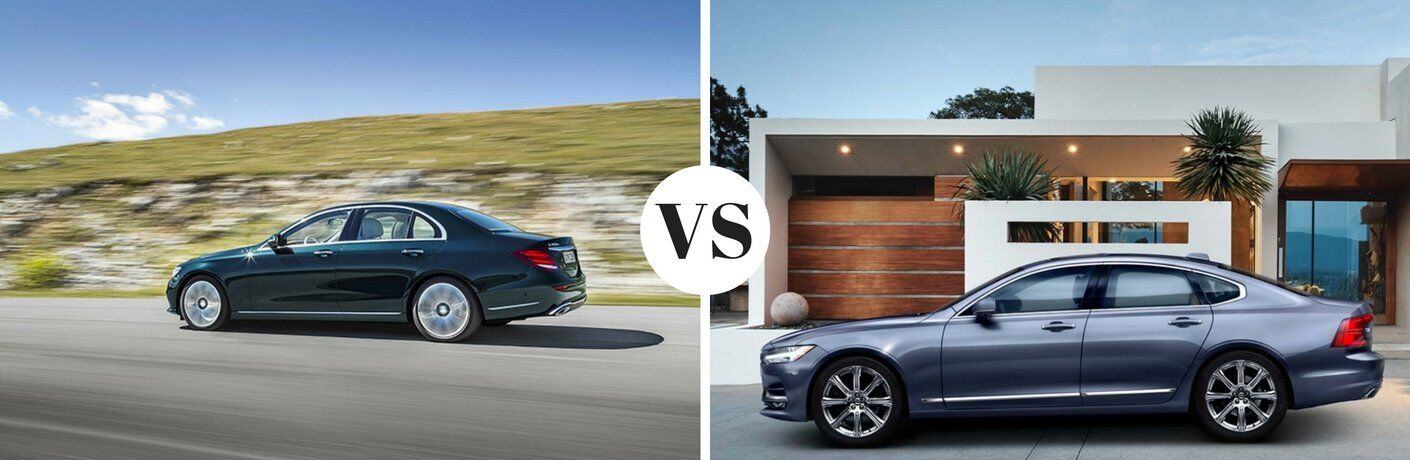 How does the Mercedes-Benz E Class compare to the Volvo S90?