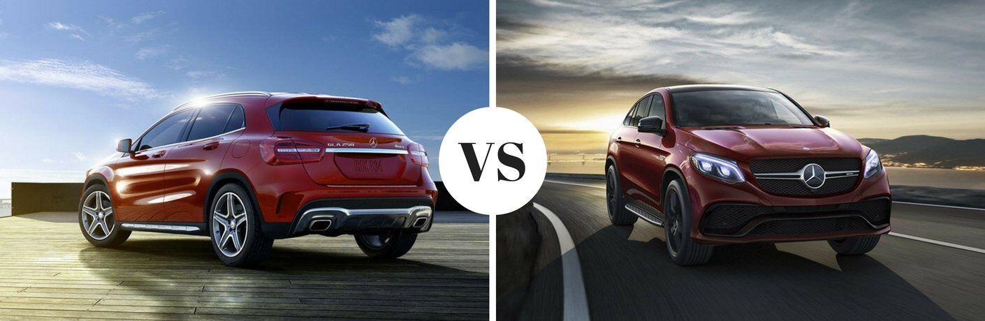 2017 Mercedes-Benz GLA vs 2017 Mercedes-Benz GLE Coupe