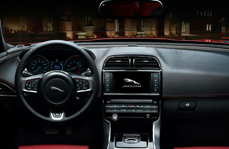 2017 Jaguar XE Black Leather Interior