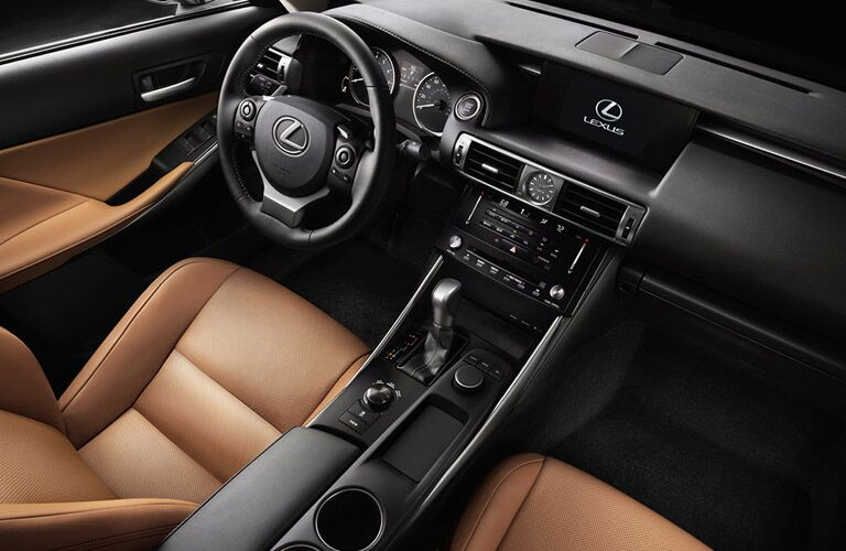 2017 Lexus IS200t Shifter on Center Console With Cup Holders