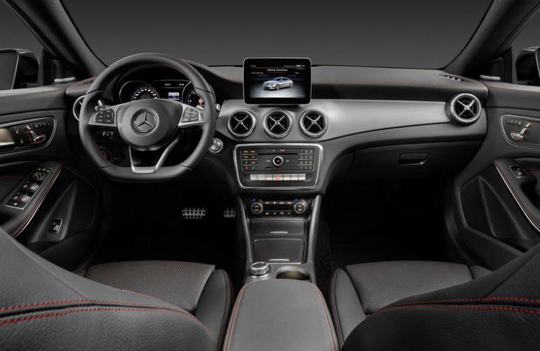 2017 Mercedes-AMG CLA45 Black and Silver Interior