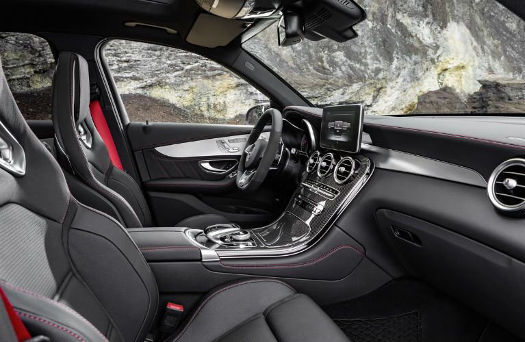 2017 Mercedes-AMG Black and Red GLC Interior
