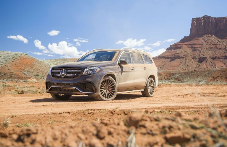 2017 Mercedes-Benz GLS SUV Covered In Dirt