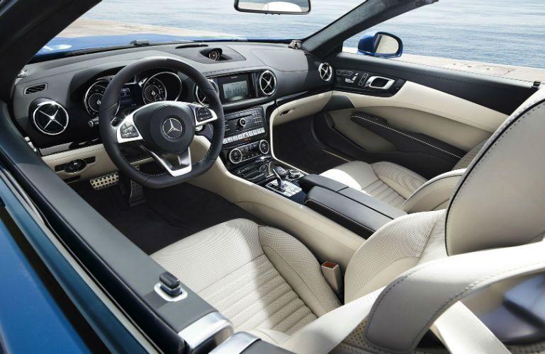 2017 Mercedes-Benz SL-Class Tan Leather Interior