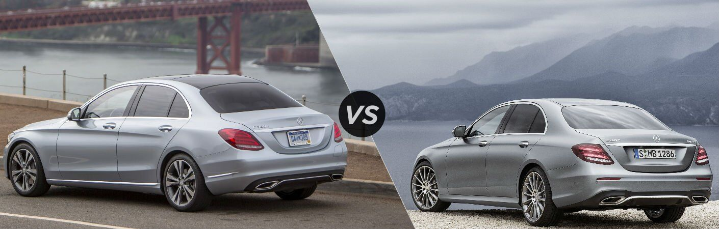 How does the Mercedes-Benz C-Class compare to the E-Class?