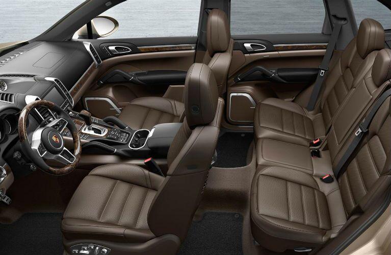 Brown Leather Porsche Cayenne SUV Interior
