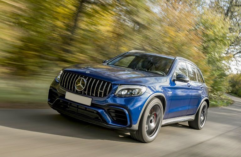AMG® GLC SUV in blue