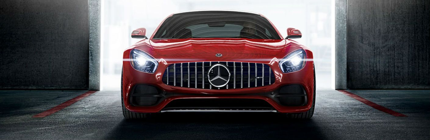 2018 AMG GT C Coupe in Red - Front View