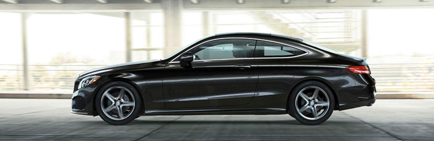 2018 C-Class Coupe in Black Side View