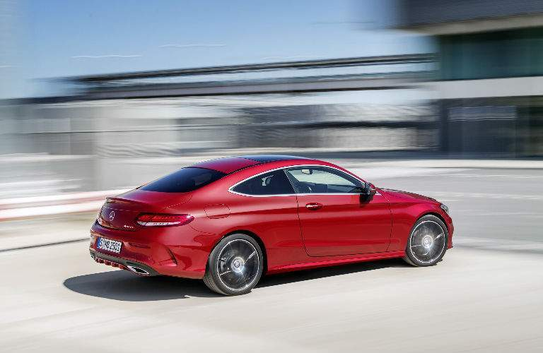 2018 C-Class Coupe in Red Side View