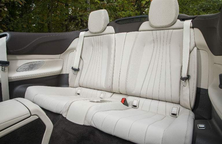 2018 E-Class Cabriolet backseat with tan seats