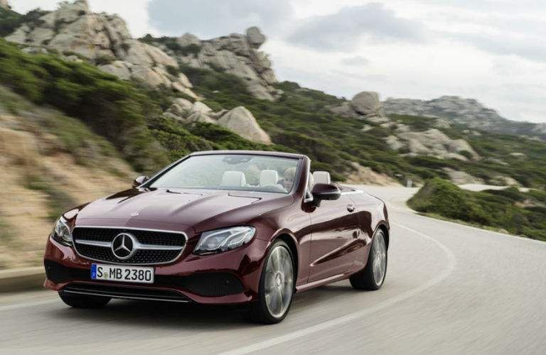 2018 E-Class Cabriolet in Maroon