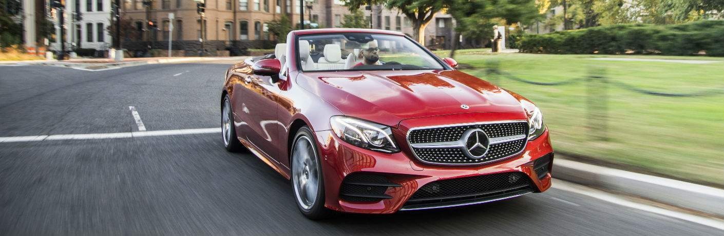 2018 E-Class Cabriolet in Red Front View