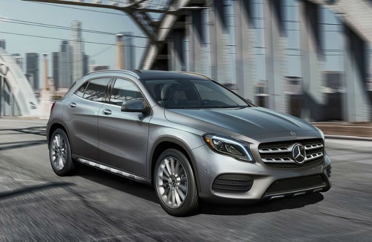 2018 GLA in Silver - Side View