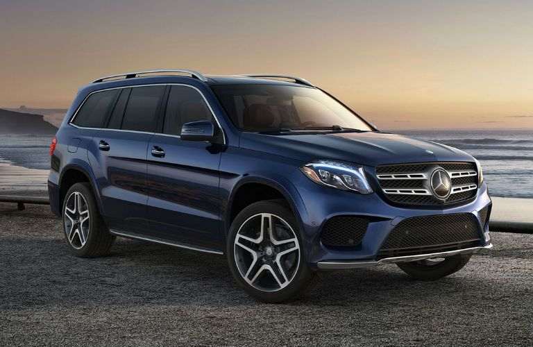 2018 GLS in Blue Side View