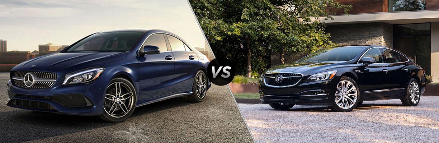 2018 CLA Coupe in blue vs 2018 Buick LaCrosse in black