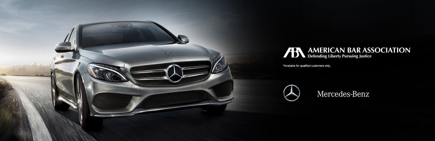 2017 E-Class in Silver with Mercedes-Benz and ABA Logos