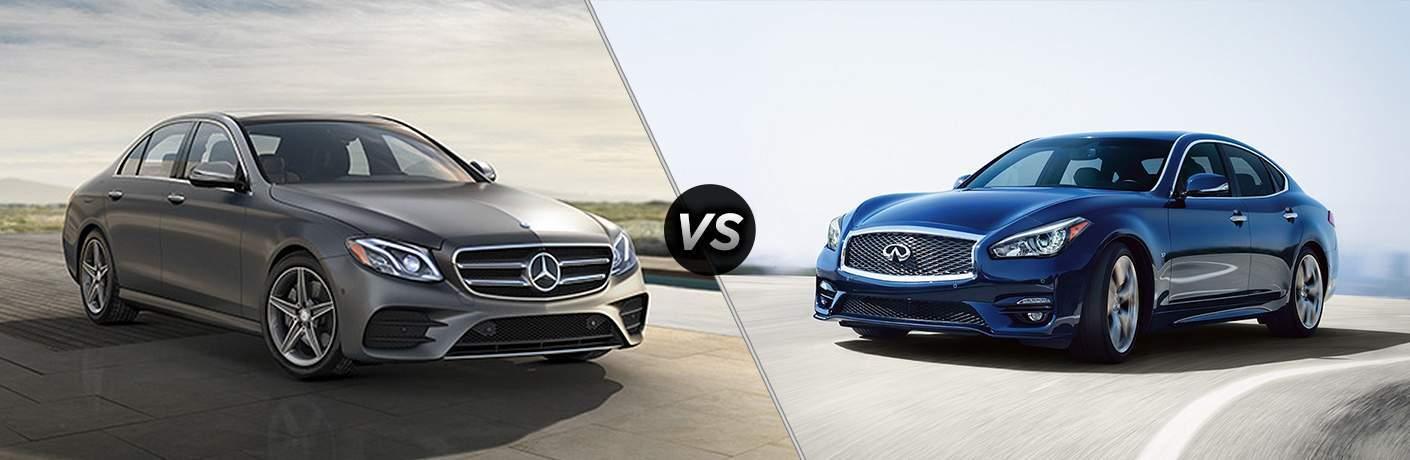 2018 Mercedes-Benz E 300 vs 2018 INFINITI Q70L 3.7 LUXE