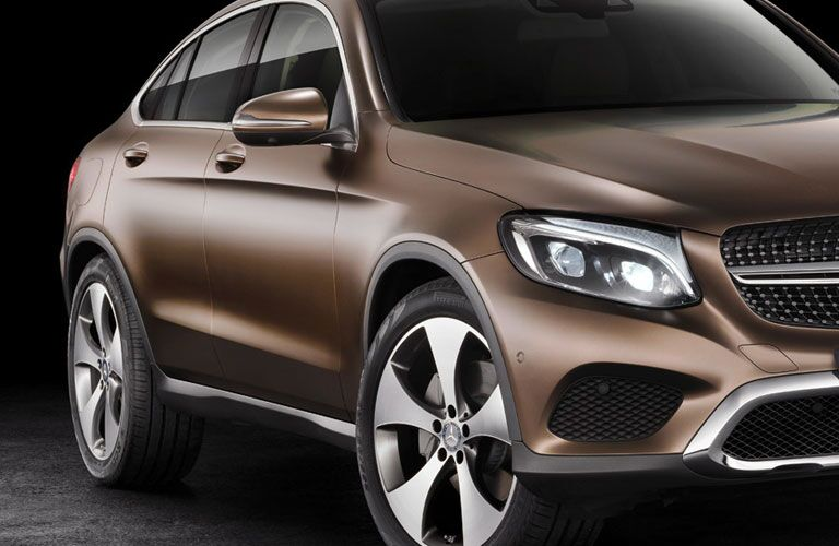 2018 Mercedes-Benz GLC Coupe exterior front fascia and passenger side