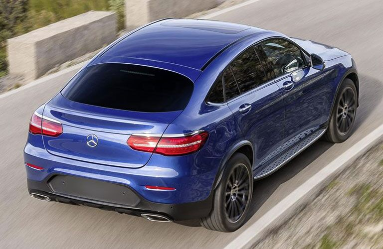 2018 Mercedes-Benz GLC Coupe exterior top view with back fascia and passenger side