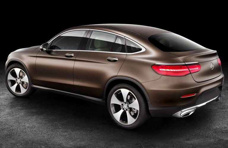 2018 Mercedes-Benz GLC Coupe exterior back fascia and drivers side