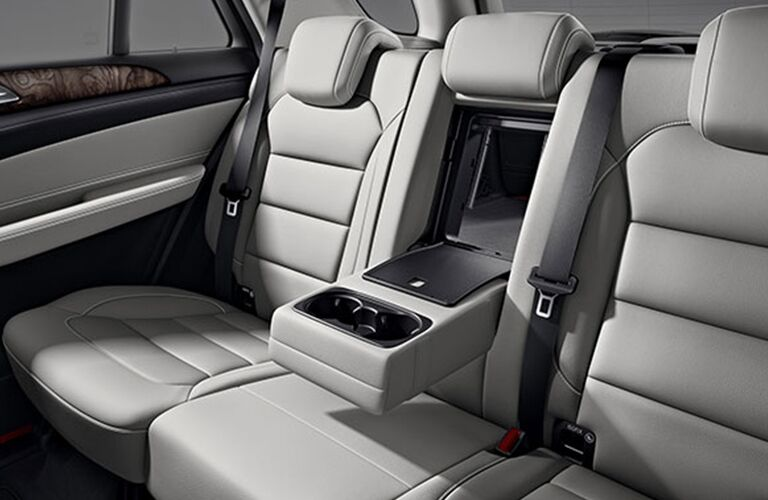 2018 Mercedes-Benz GLE interior back cabin with seat storage open
