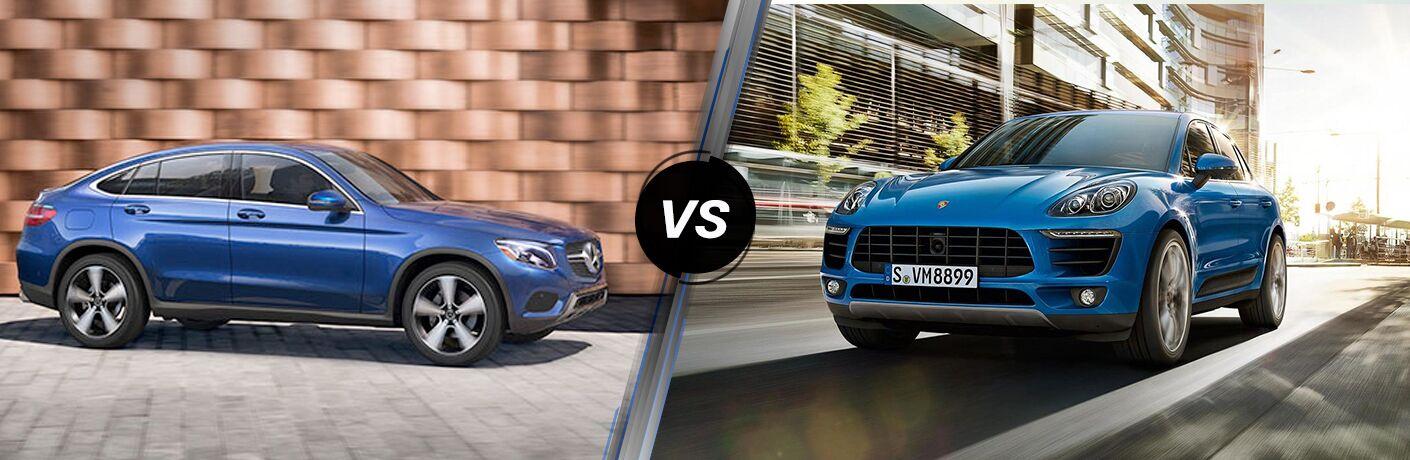 2018 GLC Coupe in Blue vs 2018 Porsche Macan in Blue