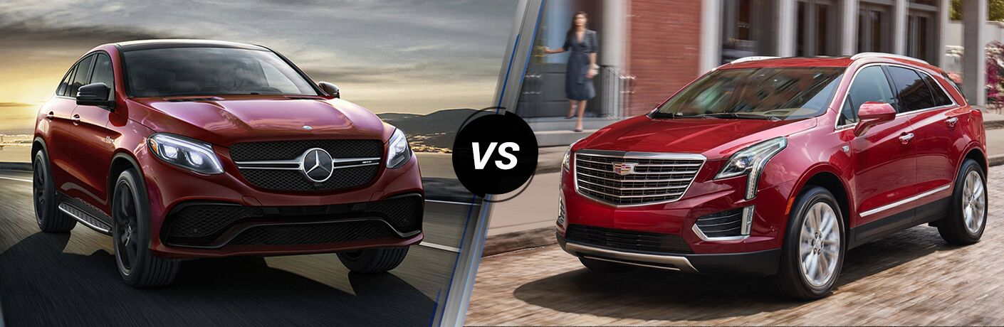 2018 GLE in Red vs 2018 XT5 in Red