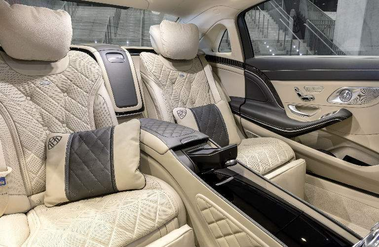 2018 S-Class Sedan Backseat with Beige and Black Interior
