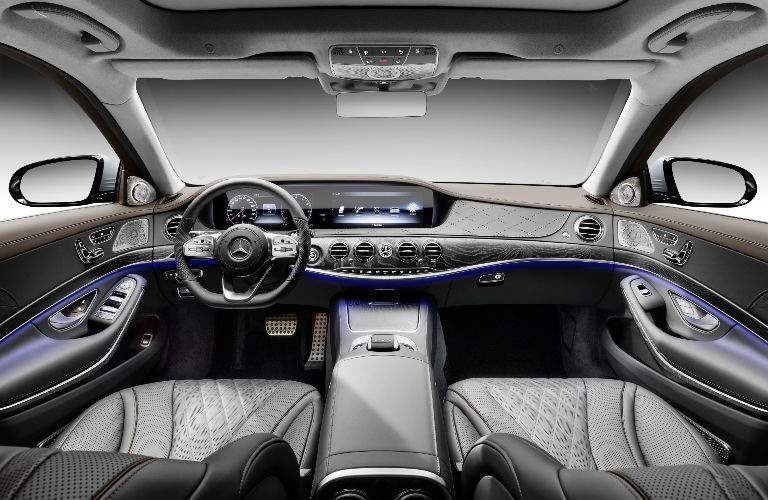 2018 S-Class Sedan Command Center with Black and Grey Interior