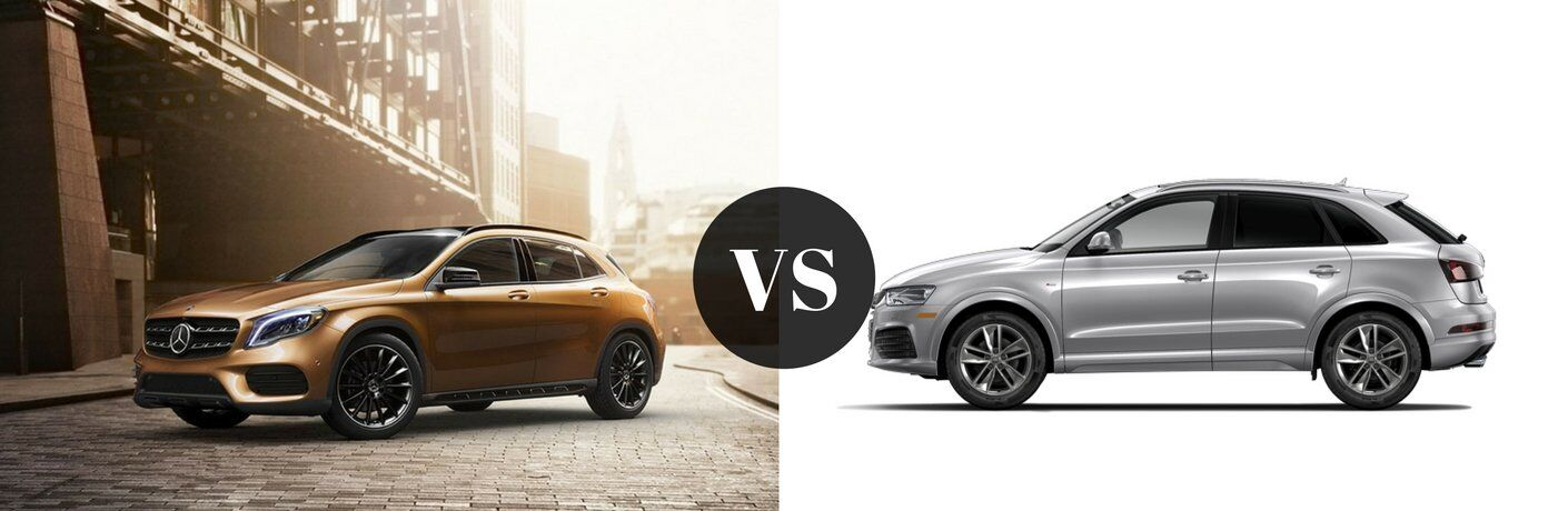 How does the GLA compare to the Audi Q3?