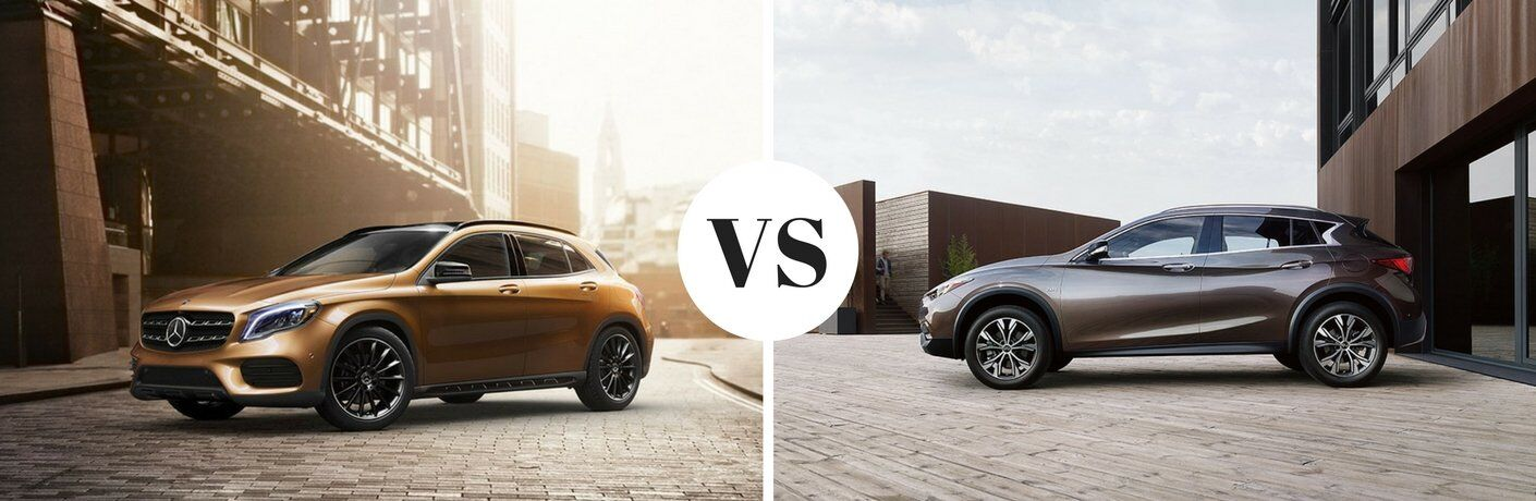 How does the 2018 Mercedes-Benz GLA compare to the Infiniti QX30?