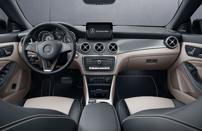 2019 CLA Coupe Command Center with Beige and Black Interior