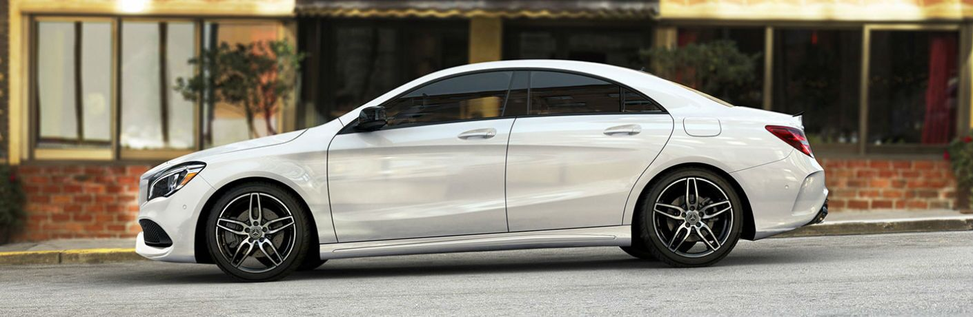 2019 CLA Coupe in White - Side View