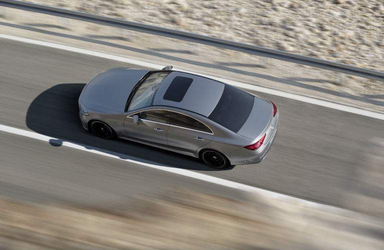 2019 CLS Coupe in Silver Bird's Eye View