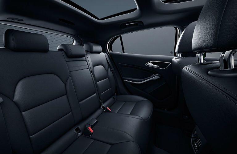 2019 GLA SUV Backseat with Black Interior