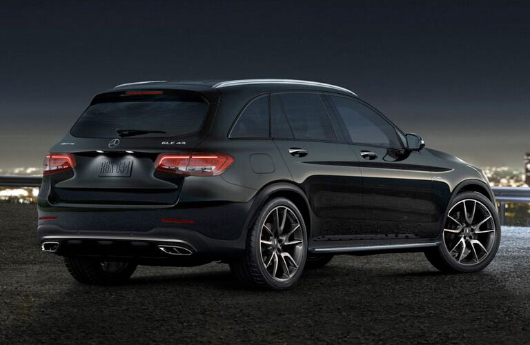 2019 MB AMG GLC 43 exterior back fascia and passenger side