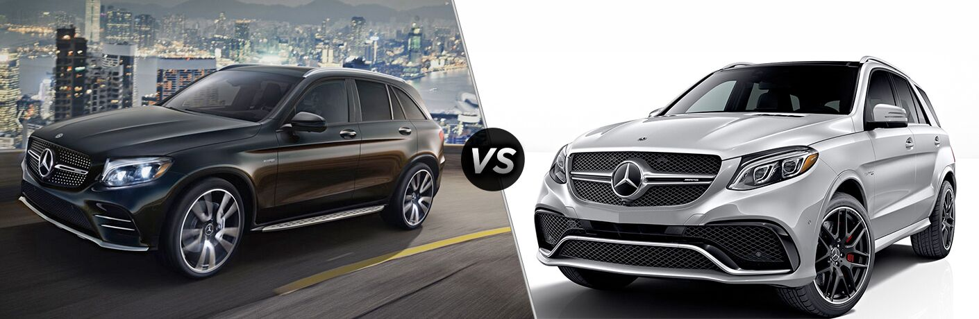 2019 MB AMG GLC 43 exterior front fascia and drivers side vs 2019 MB AMG GLE 43 exterior front fascia and drivers side