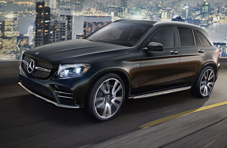 2019 MB GLC exterior front fascia and drivers side on city highway