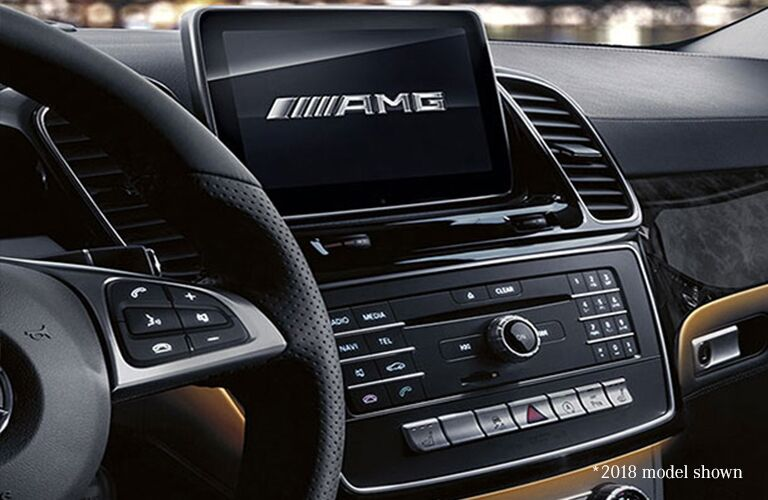 2019 MB AMG GLE 43 Coupe interior close up of display screen