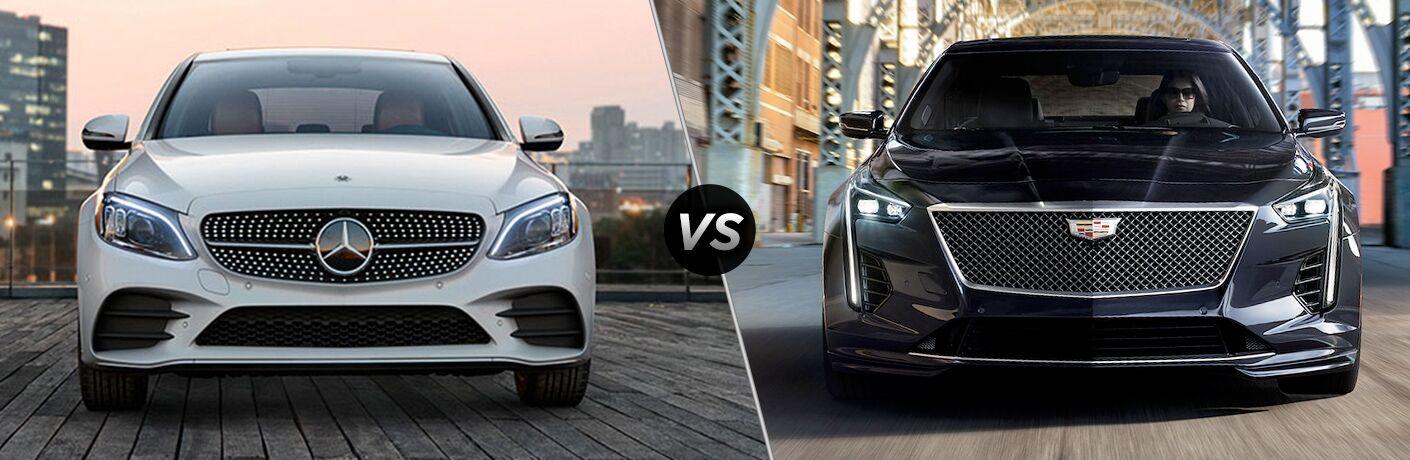 2019 MB C 300 exterior front fascia vs 2019 Cadillac CT6 exterior front fascia